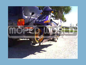 [Item# 013-70-1009 Tilt-n-Load™ Moped/Scooter Carrier Custom Built for the Derbi Predator LC-GP1 (Highest Quality - Made in USA)]